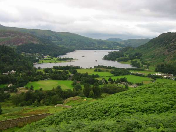 Ullswater from the descent off Arnison Crag