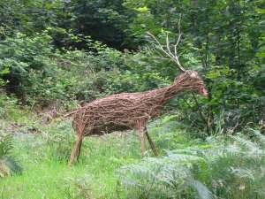 Deer sculpture at Gillerthwaite