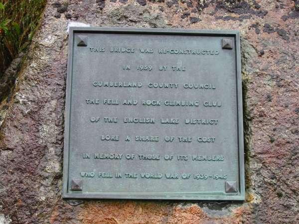 Plaque for the Memorial Bridge