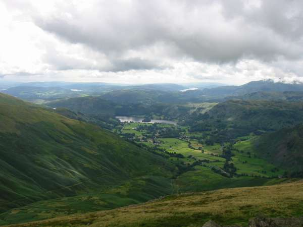 Looking down on Grasmere from near the summit