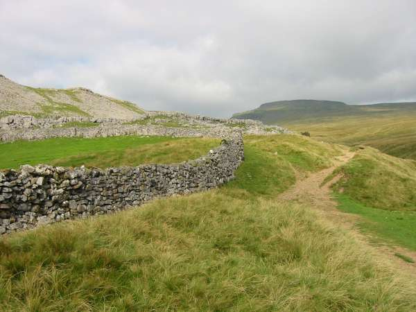Looking back to Ingleborough