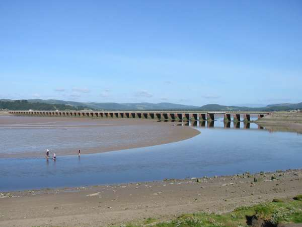 Railway viaduct over the River Kent at Arnside