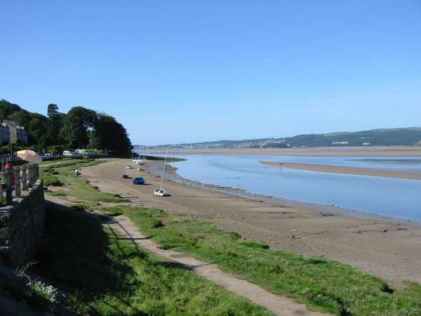 Grange Over Sands in the distance from Arnside