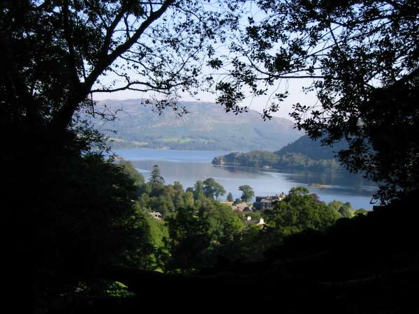 Ullswater from a view point on the path up to Lanty's Tarn
