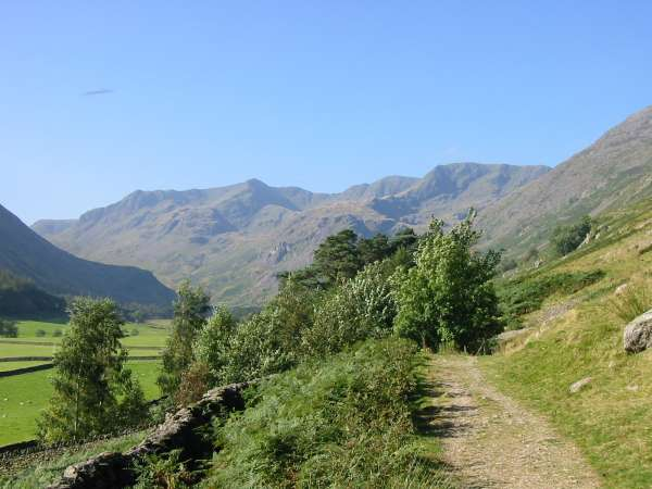 Looking up Grisedale to Dollywaggon and Nethermost Pikes