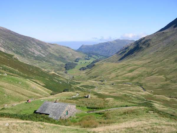Looking back down Grisedale from Ruthwaite Lodge