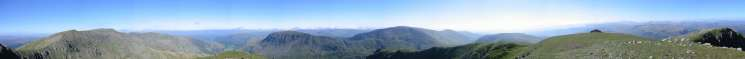 360 Panorama from Dollywaggon Pike's summit