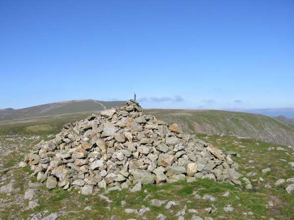 Helvellyn and Nethermost Pike from the cairn on the top of High Crag