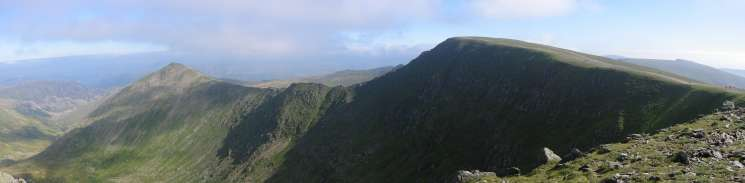 Catstycam and Helvellyn joined by Swirral Edge