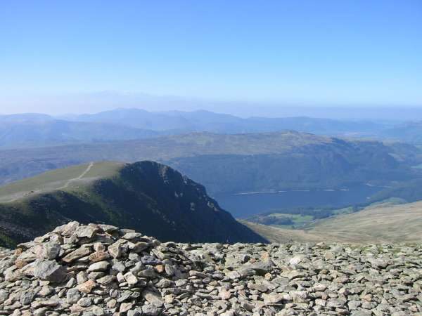 Browncove Crags and Thirlmere from Lower Man's summit