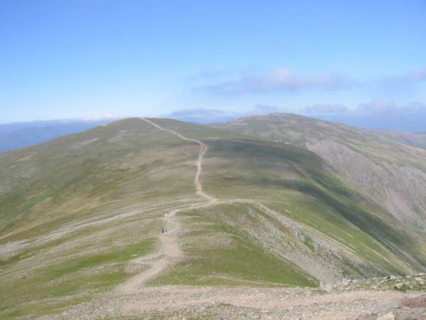 The path to White Side from Helvellyn Lower Man
