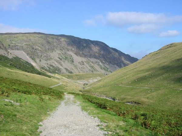 Looking down Glenridding valley