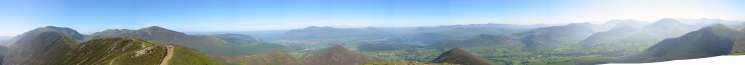 360 Panorama from Causey Pike's summit