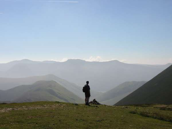 A hazy High Stile ridge from Scar Crags