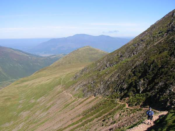 Outerside with Skiddaw in the distance from the Sail Pass path