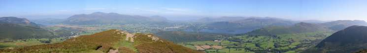 Panorama from Barrow's summit