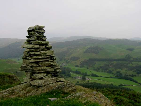 Looking across Longsleddale to Whiteside Pike from Ulgraves summit cairn