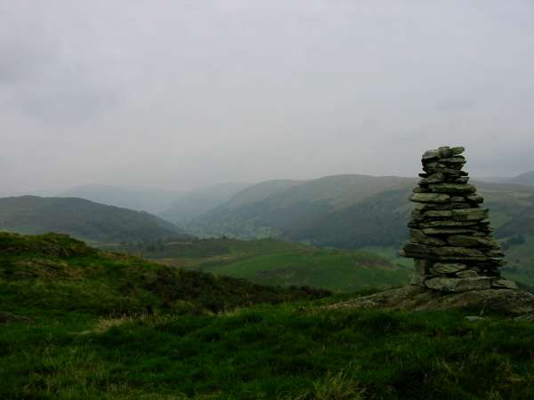 Longsleddale from Ulgraves summit cairn