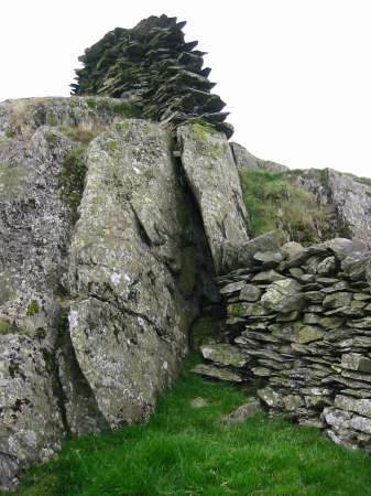 One of the many stone walls