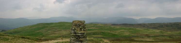 Northerly panorama from Brunt Knott's summit