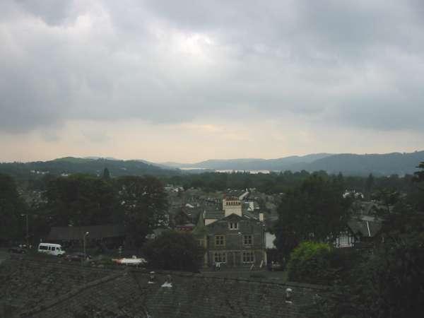 Looking down on Windermere village