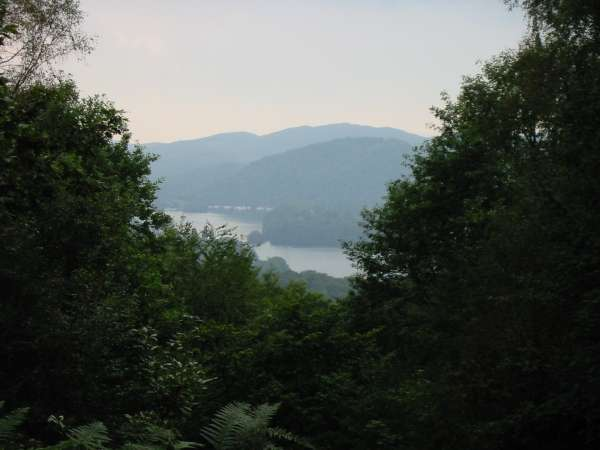 Windermere through a gap in the trees