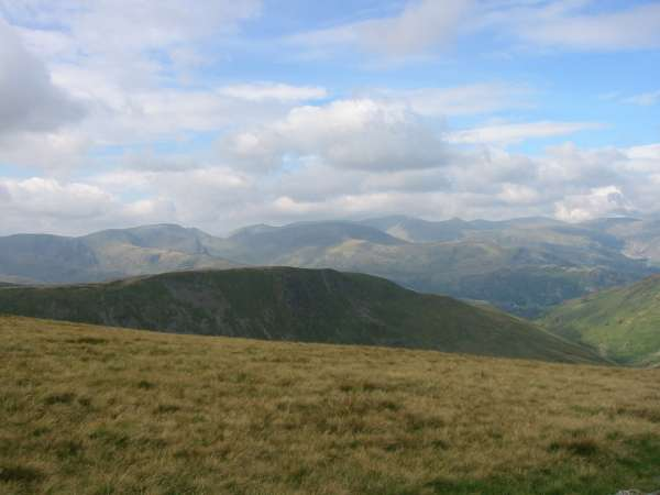 Looking over Gray Crag to Fairfield and the Helvellyn range