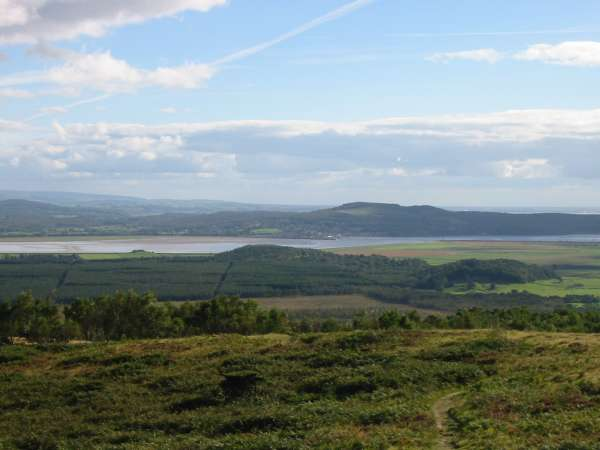 Looking south to Arnside Knott