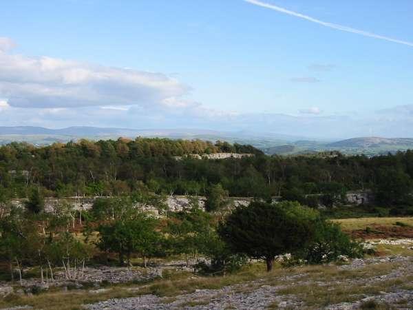 The view southeastwards
