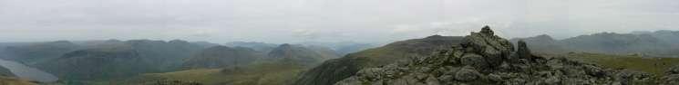 Panorama from Symonds Knott's summit