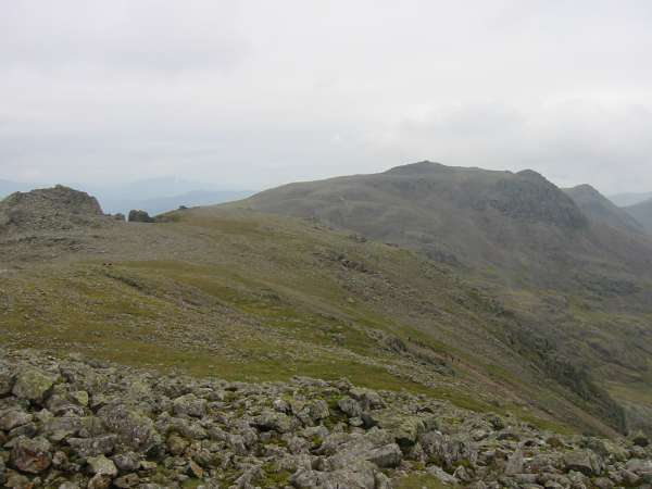 Symonds Knott, Scafell Pike and Ill Crag from Scafell summit