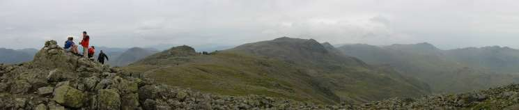 Panorama from Scafell's summit