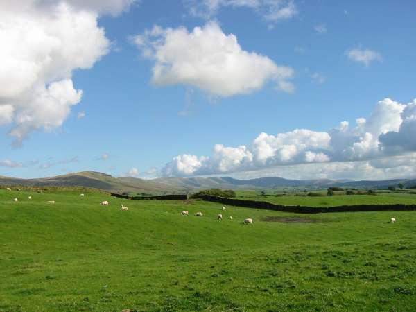 The view east. Whinfell Beacon and the Howgills