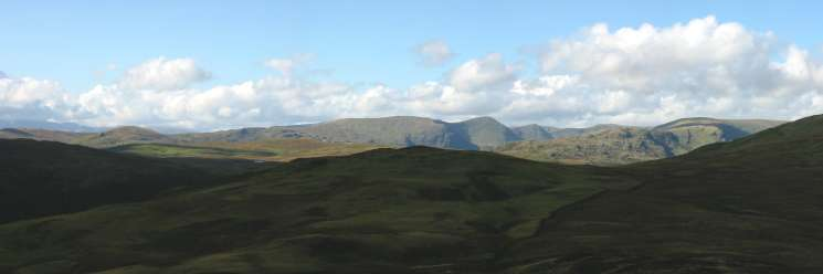 The Kentmere Fells with the pyramids of Ill Bell and Froswick clearly visible