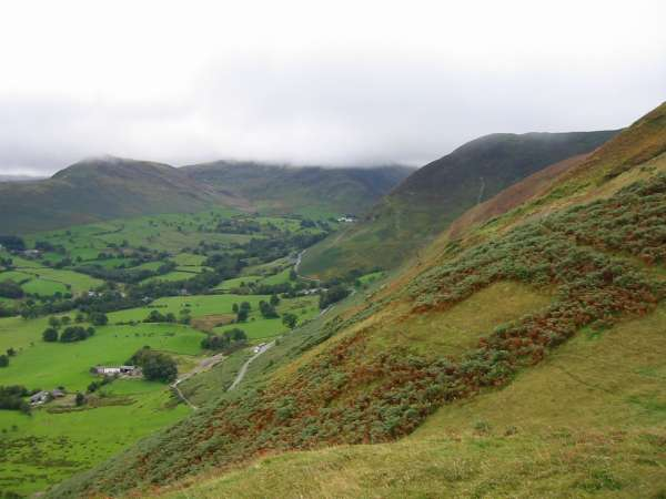 Looking down into Newlands Valley