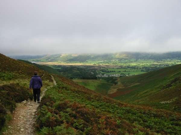 Descending back to Braithwaite from Barrow Door