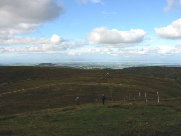 Approaching Great Calva's summit from the north