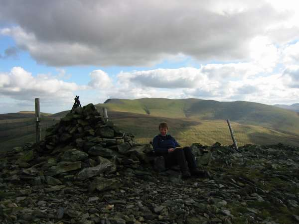 Blencathra from Great Calva's summit