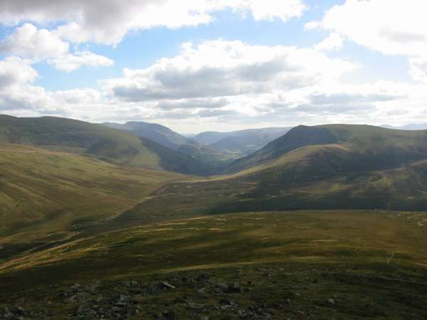 The view south from Great Calva