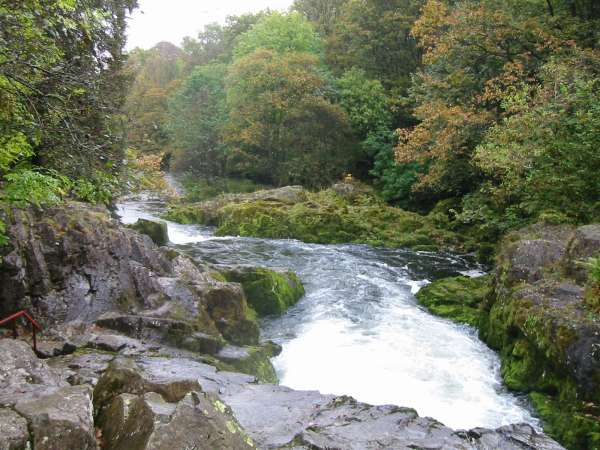 The River Brathay below Skelwith Force