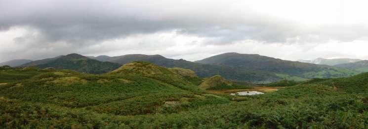 The Nab Scar - Heron Pike - Great Rigg ridge, the Dove Crag - High Pike - Low Pike ridge, Red Screes, Ill Bell ridge
