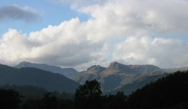 Bowfell and the Langdale Pikes