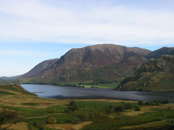 Looking across Crummock Water to Grasmoor