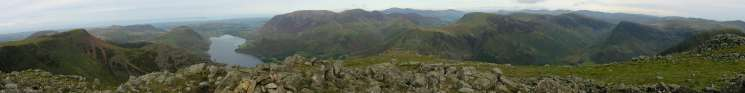Panorama from the top of High Stile's north east ridge