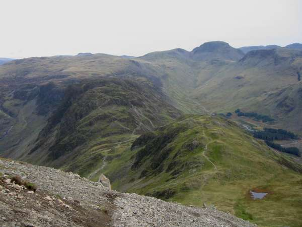 Looking down on Haystacks and Seat from Gamlin End