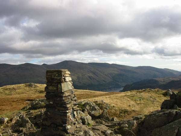 The Helvellyn ridge from High Seat's summit
