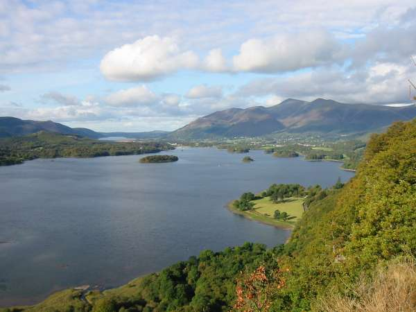 Derwent Water, Keswick and Skiddaw from Surprise View