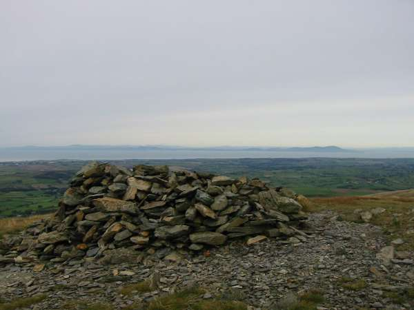 Criffel (right of centre) in Scotland across the Solway Firth from Blake Fell summit