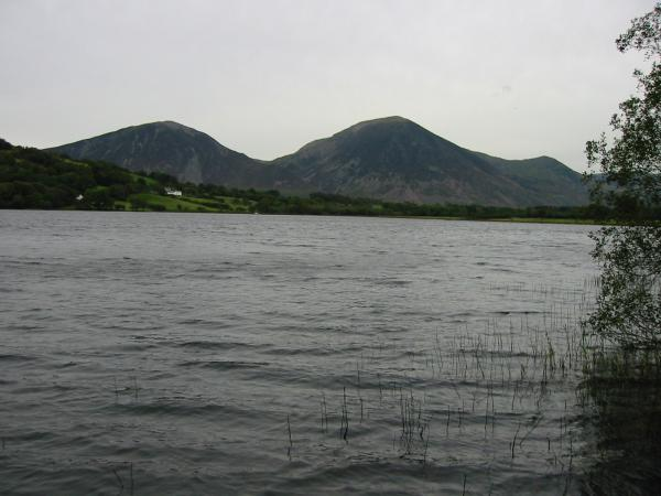 A grey day. Whiteside and Grasmoor seen across Loweswater