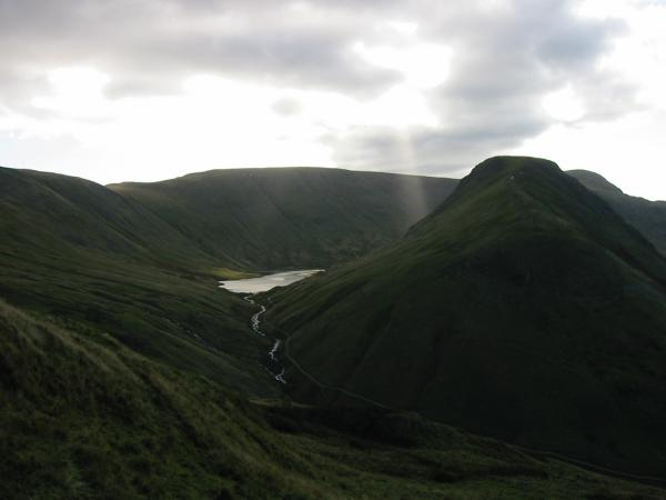 Hayeswater with High Street behind and Gray Crag on the right